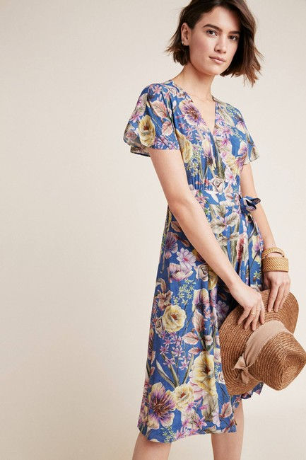 Anthropologie short dress Blue Floral on Tradesy Image 1
