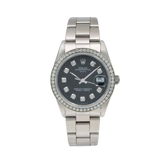 Preload https://img-static.tradesy.com/item/25367468/rolex-black-oyster-perpetual-date-15000-34mm-diamond-dial-with-105-ct-watch-0-0-540-540.jpg