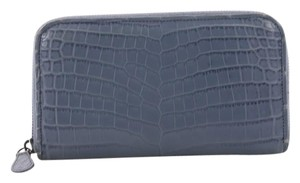 Bottega Veneta Wallet Crocodile blue Clutch