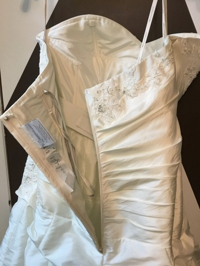 Moonlight Bridal Ivory Taffeta Collection Strapless Never Altered Zip Up Back with Throughout A Traditional Wedding Dress Size 16 (XL, Plus 0x) Image 2