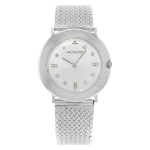 Jaeger-LeCoultre 33mm 14K White Gold Diamonds Hand Wind Ladies Watch