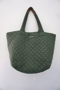 040e4f4a7841 MZ Wallace Metro Quilted Nylon Large Tote in Khaki Green