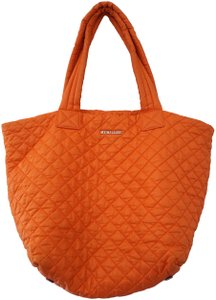 2a5625389f77 MZ Wallace Metro Quilted Nylon Large Tote in Orange