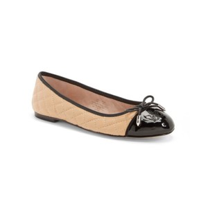 Sam Edelman Cream Black Flats