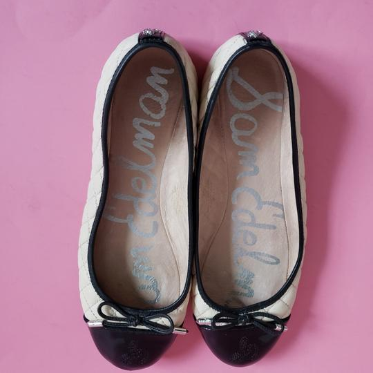 Sam Edelman Cream Black Flats Image 2