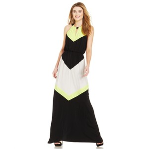 Neon Black White Maxi Dress by Vince Camuto