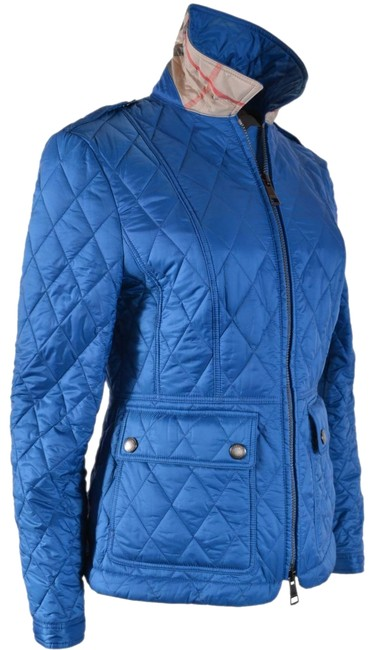 Item - Blue New Women's Ivymoore Quilted Zip Nova Check Jacket Size 12 (L)