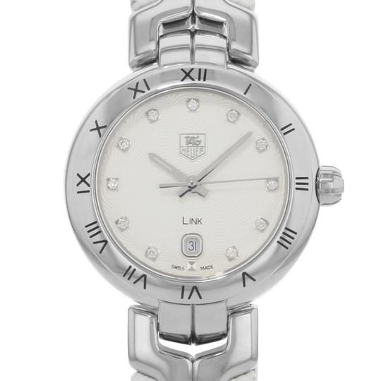TAG Heuer Link Date Steel Leather Quartz Ladies Watch WAT1411.FC6316 Image 1