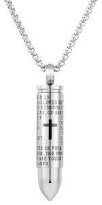 Other MEN'S BULLET CROSS THE LORD'S PRAYER NECKLACE