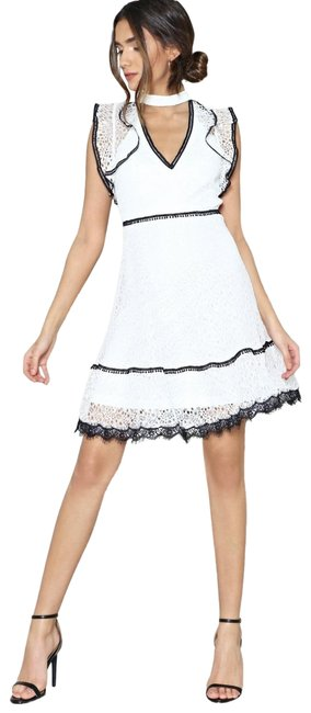 Nasty Gal White The Playing Up Short Night Out Dress Size 8 (M) Nasty Gal White The Playing Up Short Night Out Dress Size 8 (M) Image 1