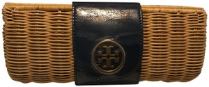 Tory Burch Navy and Gold Clutch