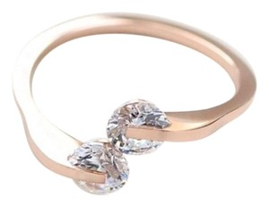 Other Ladies Never Fade Gold Double Crystal Ring