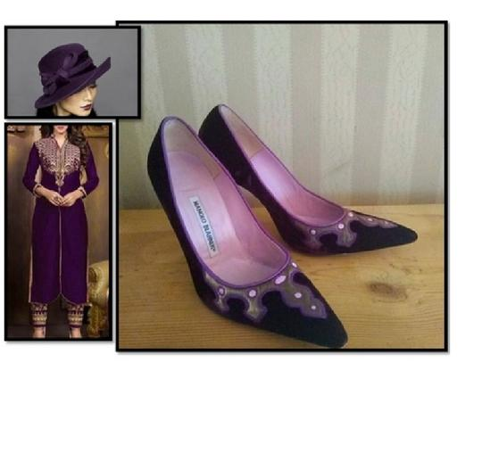Manolo Blahnik Purple Pumps Image 1
