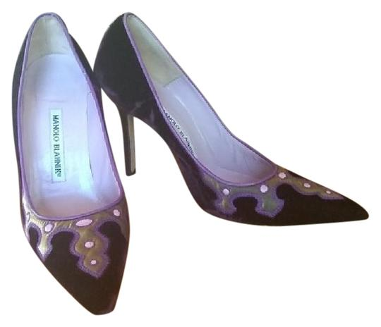 Manolo Blahnik Purple Pumps Image 2