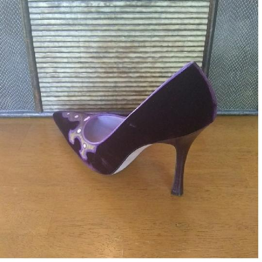 Manolo Blahnik Purple Pumps Image 6