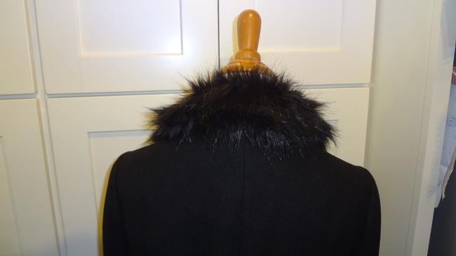 Topshop Double Breasted Faux Fur Pea Coat Image 8