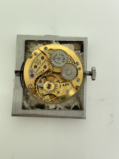 Lucien Piccard Oval Dial Square Face 14k White Gold Ladies Watch Image 5
