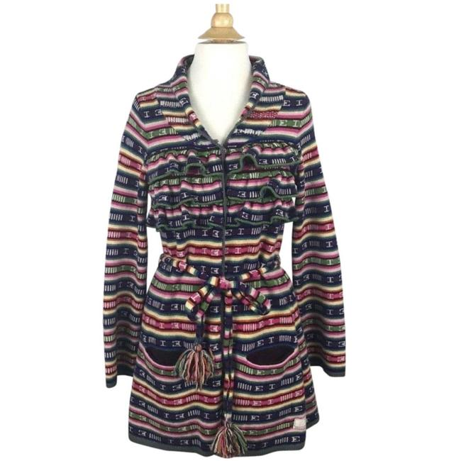 Preload https://img-static.tradesy.com/item/25367949/odd-molly-rainbow-rare-ruffled-belted-hand-knit-cardigan-size-8-m-0-0-650-650.jpg
