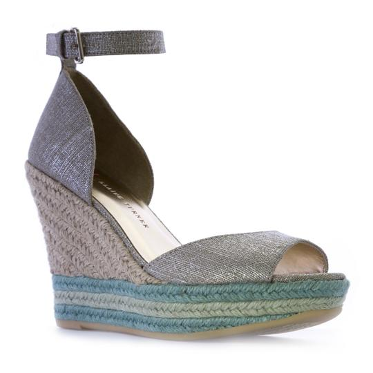 Preload https://img-static.tradesy.com/item/25367998/elaine-turner-tiffanymint-arial-metallic-linen-wedge-sandals-size-us-7-regular-m-b-0-0-540-540.jpg