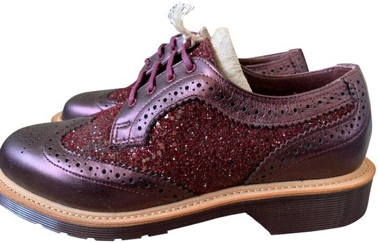 Dr. Martens Made In England Limited Edition Leather Glitter Rare Cherry red Flats Image 0