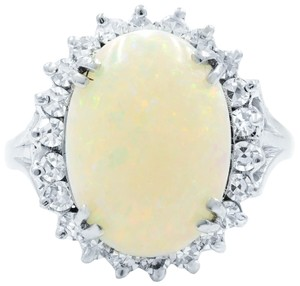 Other Opal Retro Vintage 3.40cttw Diamond 0.75cttw Ring SZ8.75 14K