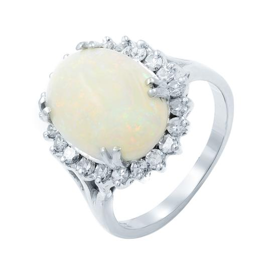 Other Opal Retro Vintage 3.40cttw Diamond 0.75cttw Ring SZ8.75 14K Image 5