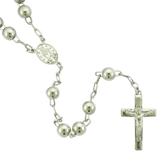 Preload https://img-static.tradesy.com/item/25368103/avital-and-co-jewelry-sterling-silver-ball-link-chain-crucifix-religious-cross-pendant-513-grams-nec-0-1-540-540.jpg