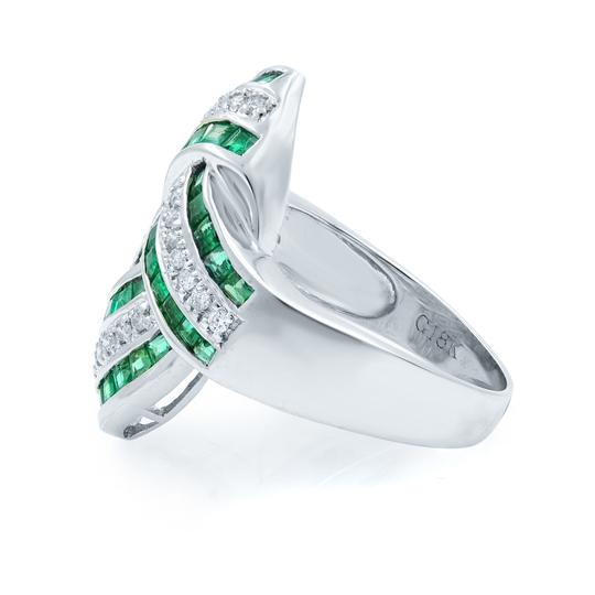 Other Green Emerald Diamond STATEMENT Ring 18KW 1.92ct Image 1
