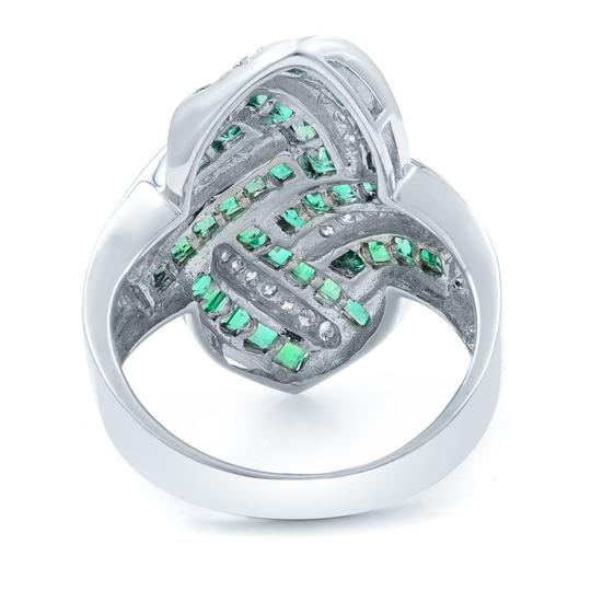 Other Green Emerald Diamond STATEMENT Ring 18KW 1.92ct Image 2