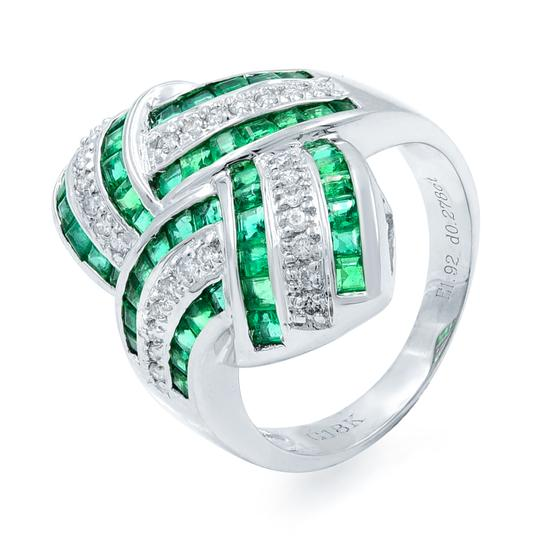 Other Green Emerald Diamond STATEMENT Ring 18KW 1.92ct Image 4