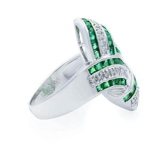 Other Green Emerald Diamond STATEMENT Ring 18KW 1.92ct Image 5