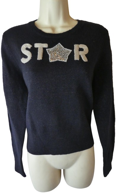 Preload https://img-static.tradesy.com/item/25368174/french-connection-new-m-star-black-sweater-0-1-650-650.jpg