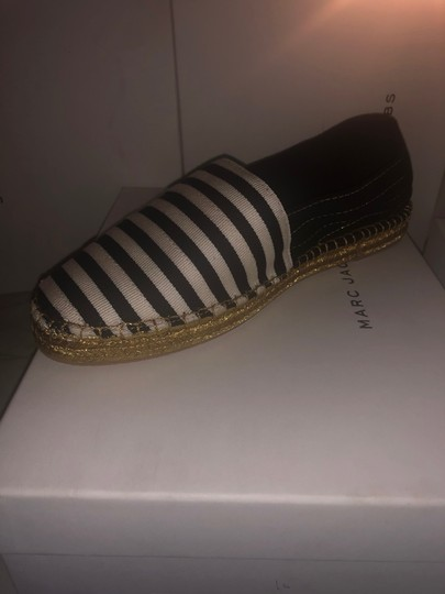 Marc Jacobs White/Black Flats Image 1