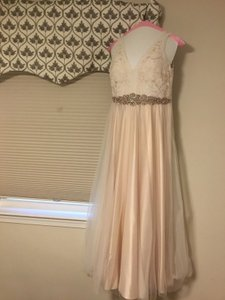 7683e964a Catherine Deane for BHLDN Blush Tulle Formal Wedding Dress Size 10 (M)