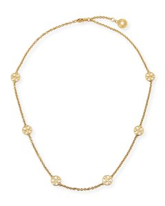 Tory Burch Tory Burch Gold Delicate Logo Necklace