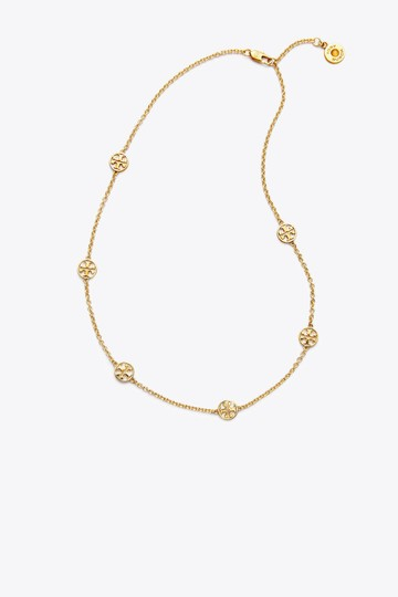 Tory Burch Tory Burch Gold Delicate Logo Necklace Image 1