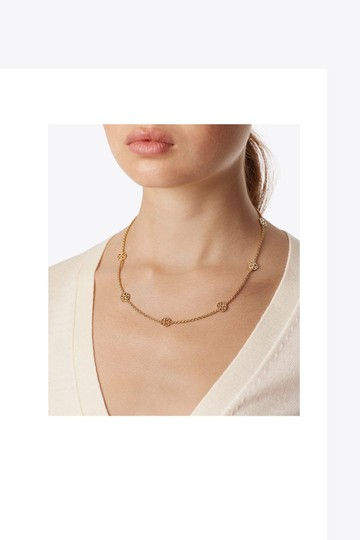 Tory Burch Tory Burch Gold Delicate Logo Necklace Image 3
