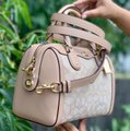 Coach Satchel in Light Khaki / Beechwood Image 1