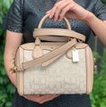Coach Satchel in Light Khaki / Beechwood Image 5