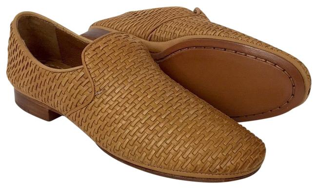 Item - Tan Ashley Woven Leather Slip Flats Size US 7.5 Regular (M, B)