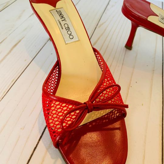 Jimmy Choo Red Sandals Image 6