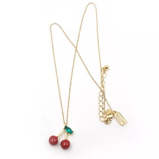 Kate Spade 12K Gold Plated Magnolia Bakery Cherry Pendant Necklace Image 1