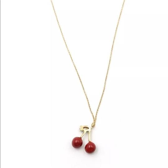 Kate Spade 12K Gold Plated Magnolia Bakery Cherry Pendant Necklace Image 2