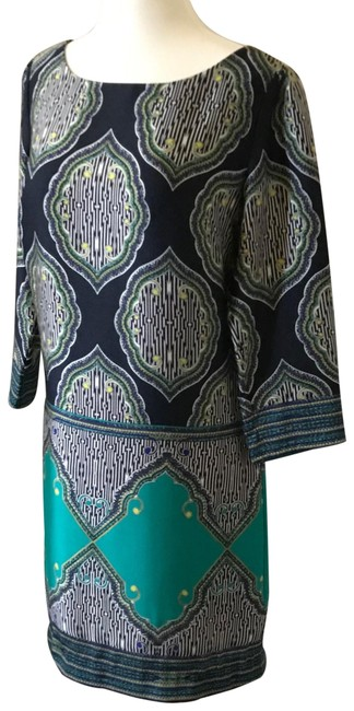 Preload https://img-static.tradesy.com/item/25368458/laundry-by-shelli-segal-navy-blue-green-black-print-mid-length-workoffice-dress-size-6-s-0-1-650-650.jpg