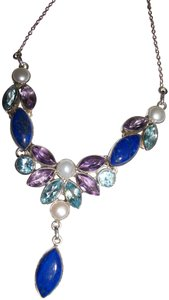 other NWT MULTI GEMSTONES in STERLING NECKLACE