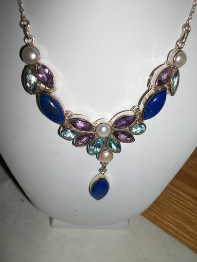 other NWT MULTI GEMSTONES in STERLING NECKLACE Image 1