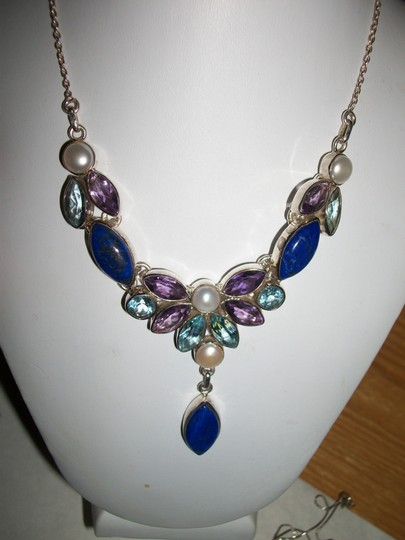 other NWT MULTI GEMSTONES in STERLING NECKLACE Image 3