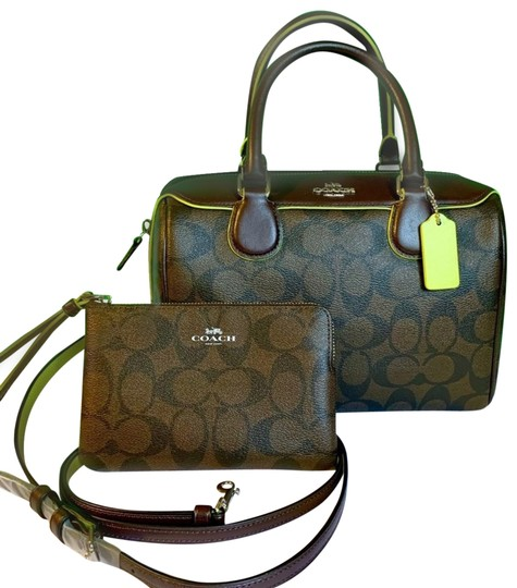 Preload https://img-static.tradesy.com/item/25368463/coach-bennett-signature-mini-leather-crossbody-set-brown-neon-yellow-coated-canvas-satchel-0-1-540-540.jpg
