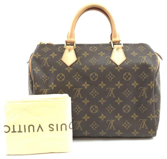 Louis Vuitton Lv Canvas Speedy 30 Satchel in Monogram Image 1