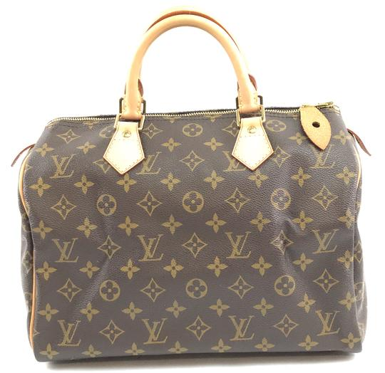 Louis Vuitton Lv Canvas Speedy 30 Satchel in Monogram Image 2